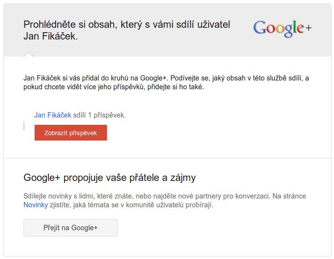 Google+ otravuje